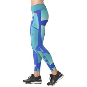 asics fuzeX - Pantalones cortos running Mujer - verde/azul